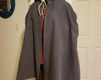 Renaissance Traveller's Cloak - Grey