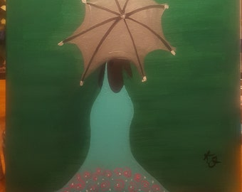 April Showers acrylic painting