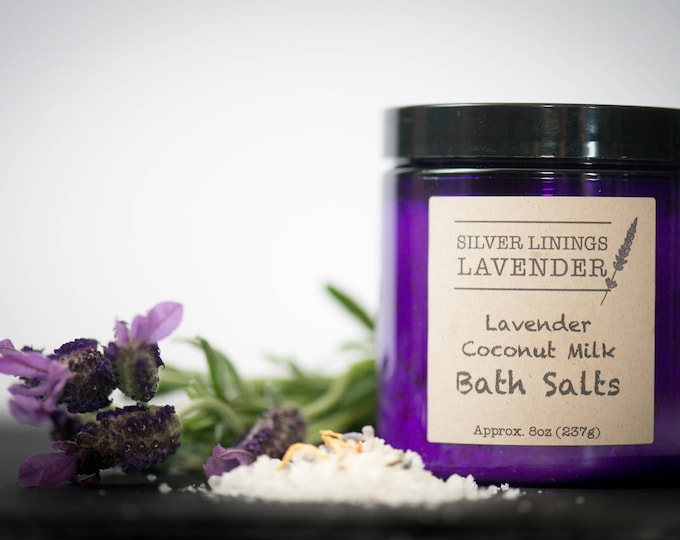 Lavender Coconut Milk Bath Salts