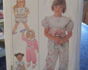 Sewing paper pattern girls play clothes pattern size A  uncut All sizes included Simplicity 9466