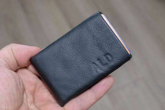 Best men gift, Breast Pocket Wallet - PERSONALIZED RFID Wallet Mens Wallet, Leather Wallet, Limited Edition NERO Wallet - Groomsmen Gifts