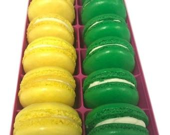 Macarons 12pc Assortment Lemon Pound Cake - Key Lime
