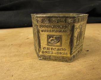 Vintage 1933 Century Of Progress Napkin Ring Chicago World's Fair Souvenir