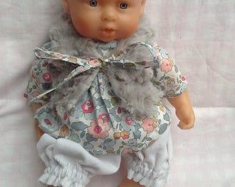 Doll clothe fur vest Liberty porcelain doll 30 cm