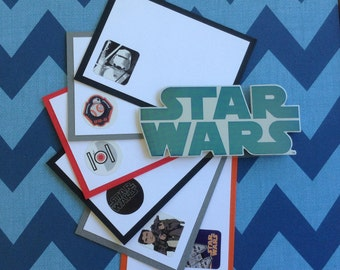 Star Wars Lunch Box Notes, Pocket Notes, Pillow Notes, Set of 6
