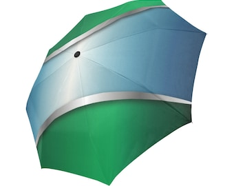 Blue Umbrella Green Umbrella Designed Umbrella Pattern Umbrella Art Umbrella Photo Umbrella Automatic Foldable Umbrella Abstract Umbrella