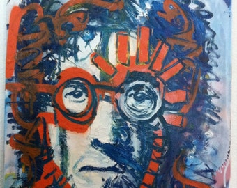 John Lennon Art The Beatles Art by Matt Pecson Pop Art Painting Canvas Painting on Canvas Wall Art MADE TO ORDER