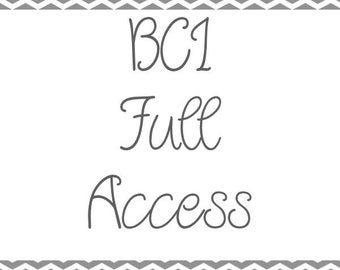 Full Access to All Old & New BCI