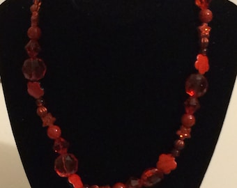 Red shaped necklace