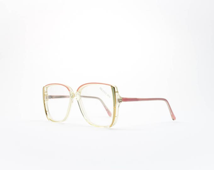 Vintage 1980s Eyeglass Frame | Oversized 80s Glasses | Cute Pastel Pink and Green Eyeglasses | NOS Deadstock Eyewear