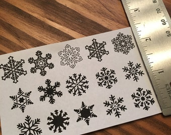 Temporary Snowflake Tattoo/Chrismas Tattoo/Winter Tattoo/Tribal Snowflake Tattoo/ Celtic Snowflake Tattoos /Miniature Tattoos