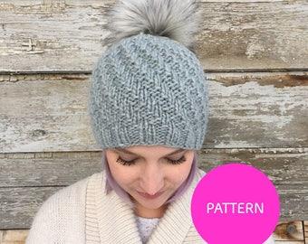 PATTERN ONLY* Soft serve beanie knit pattern, hat pattern, swirls hat pattern, swirl hat, swirl knit hat, soft serve knit hat, hat pattern