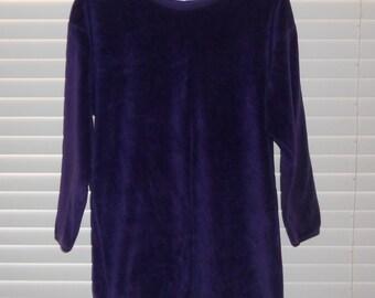 Vintage I. Magnin Purple Plush Pullover