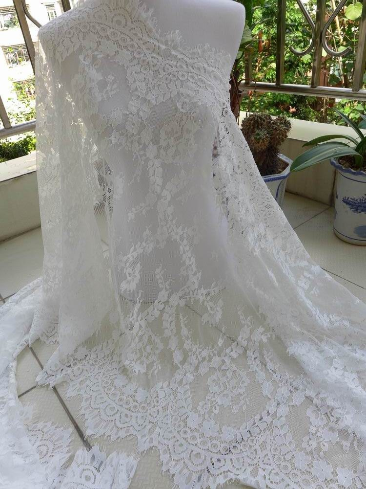 Off White Bridal Lace Fabric Gorgeous Evening gown Fabric