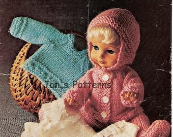 baby doll knitting pattern for 12 in doll jacket leggings  hat sweaterdk