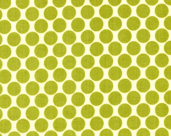 Cotton Quilting Fabric | Amy Butler fabric | Lotus Lime Full Moon Dot