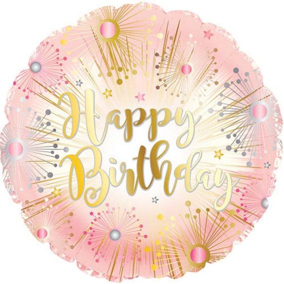 Rose Gold Happy Birthday Balloon