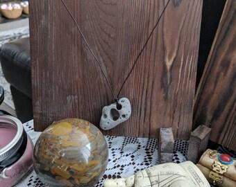 Hag stone pendant, hag stone necklace, holey stones, Odin stone, fae necklace
