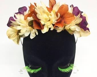 Ivory Fall Inspired Flower Crown Headband