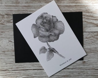 Rose stem Notecard / postcard