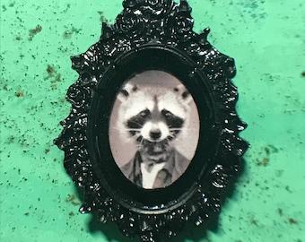 Raccoon Frame Magnet