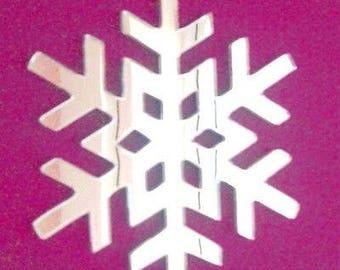 Frozen Snowflake Christmas Mirror - 5 Sizes Available