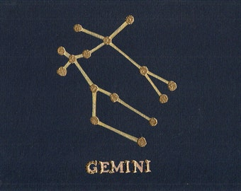 Gemini Birthday Card, Astrology, Horoscope, Constellation, Gemini Card, Star Sign, Birthday, Gemini, Birthday Card