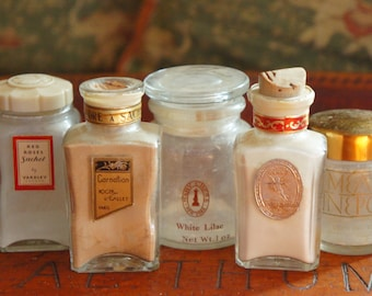 Vintage 30s-40s Lot Of Art Deco Perfume Bottles/ Vanity Decor/ Instant collection/Prop/Shabby chic