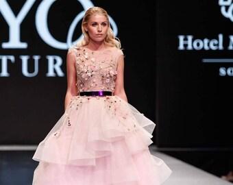 Wedding dress, wedding dress in pink gold