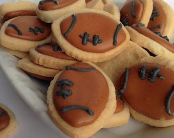 Mini FOOTBALL SUGAR COOKIES, Itty Bitty Sugar Cookies, 1/2 Pound