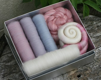 Cottage Garden Spinners / Felters Selection Box - 200g minimum