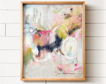 Abstract Art No. 24, Wall art, PRINTABLE art, Colorful art, Abstract print, Modern painting, Abstract painting, Brushstroke art, Wall decor