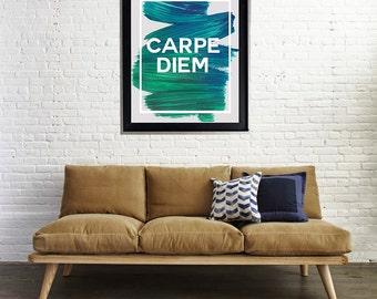 Carpe Diem Watercolor Art Print Matte Print Poster Seize the Day