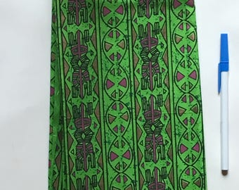 African fabric, partly over-printed, 100% cotton.