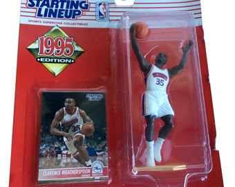 NBA Starting Lineup SLU Clarence Weatherspoon Action Figure 1995 Kenner