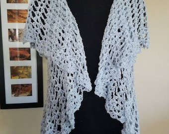 Crochet Circle Vest Size Small