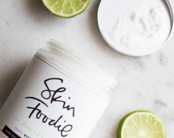 lime + ginger | organic | body butter | brighten | lighten | repair |