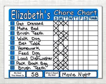 Chore Chart Shipped works like Dry Erase Board, Set Chores, Behaviors, Goals, & Rewards