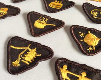Vintage Brownie Badges Patches