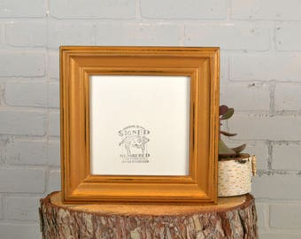8x8 Square Picture Frame in Scully Style with Vintage Old Gold Finish - IN STOCK Same Day Shipping - 8 x 8 Photo Frame Metallic