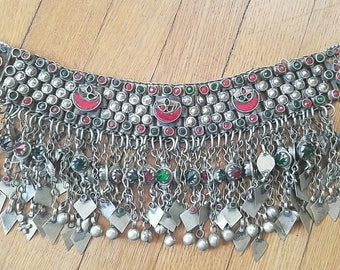 Ornate Colorful Kuchi Choker 4