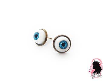 Antique Bronze Eyeball Earrings, Blue Eyeball Earrings, Brown Eyeball Earrings, Eyeball Stud Earrings, Doll Eye Earrings, Evil Eye Earrings