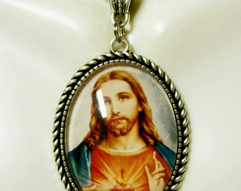 Sacred Heart of Christ necklace - AP09-412