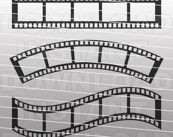 Camera Film Strip SVG File Cutting Template-Clip Art for Commercial & Personal Use-Vector Art file for Cricut,SCAL,Cameo,Sizzix,Pazzles