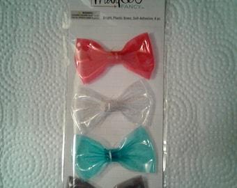 Flea market plastic adhesive bows