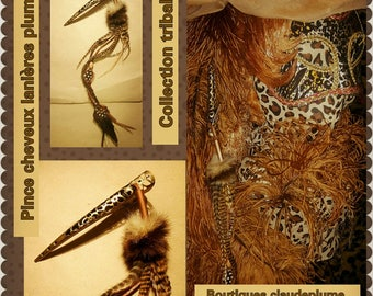 strappy natural feather hair clip