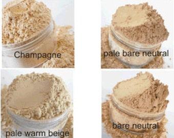 Mineral  Foundation Samples 8 Color  Shades makeup Vegan Natural Finishing powder loose mineral makeup