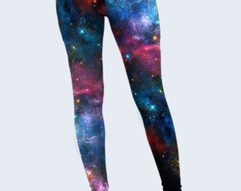 Galaxy Leggings, Space Leggings, Minimalist Womens Leggings, Purple, Leggings for Women, Cool Leggings, Cosmo, Street Fashion