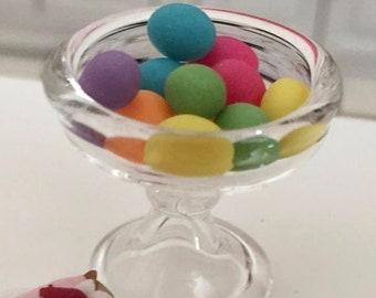 SALE Miniature Easter Eggs, Dyed Mini Eggs, Dollhouse Miniature, 1:12 Scale, Dollhouse Food, Accessory, Mini Food, Holiday Decor