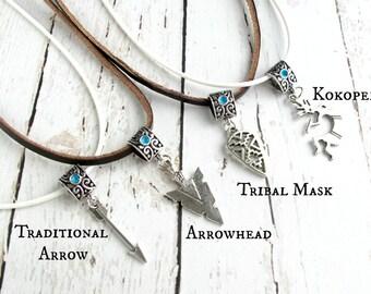 Boho Jewelry-Hippie Necklace-Boho Necklace for Women-Arrow Jewelry-Arrow Tribal Necklace-Boho Charm Necklaces-Boho Necklaces for Teen Girls
